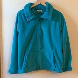 Teal Polar Fleece Jacket